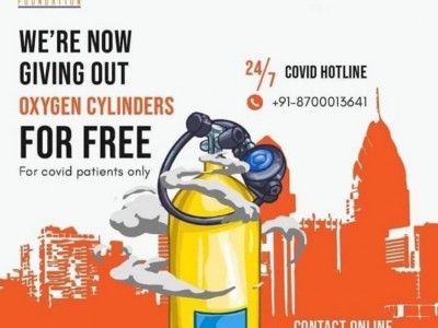 Hemkunt Foundation's Crowdfunding campaign for OXYGEN CYLINDER RELIEF